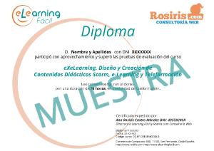 DIPLOMA DE CURSO EXELEARNING EXE-LEARNING EXELEARNING CONTENIDOS DIDACTICOS SCORM ELEARNING Y TELEFORMACION