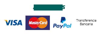 Paga tu curso online con tarjeta de crédito, transferencia, efectivo