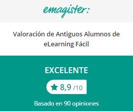 Opiniones Excelentes de E-Learning Fácil en Emagister