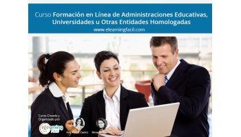 Curso de formación en línea de Administraciones Educativas, Universidades u otras entidades homologadas