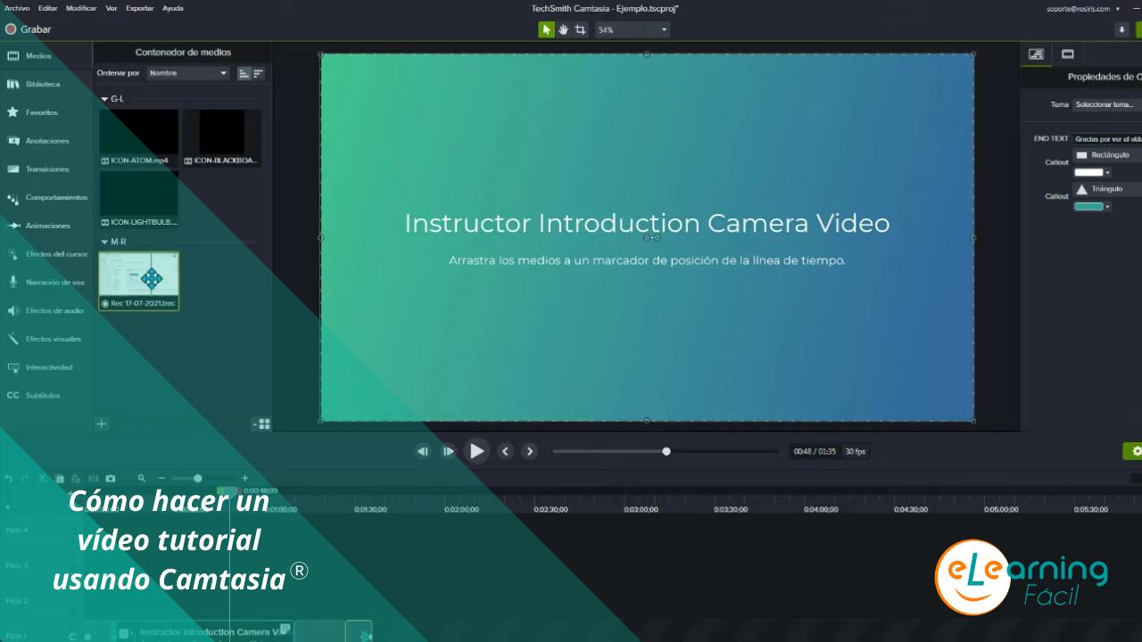 Cómo hacer un vídeo tutorial usando Camtasia