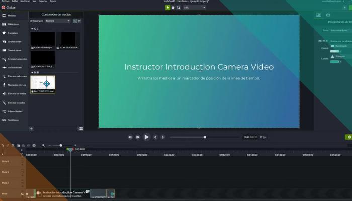 Hacer un vídeo tutorial usando Camtasia