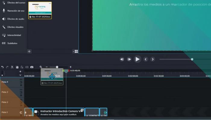 Inserta el nuevo vídeo capturado