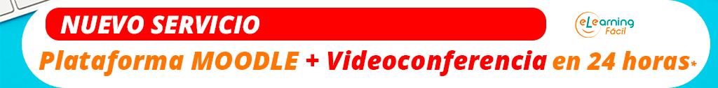 Plataforma de formación Moodle con Videoconferencia