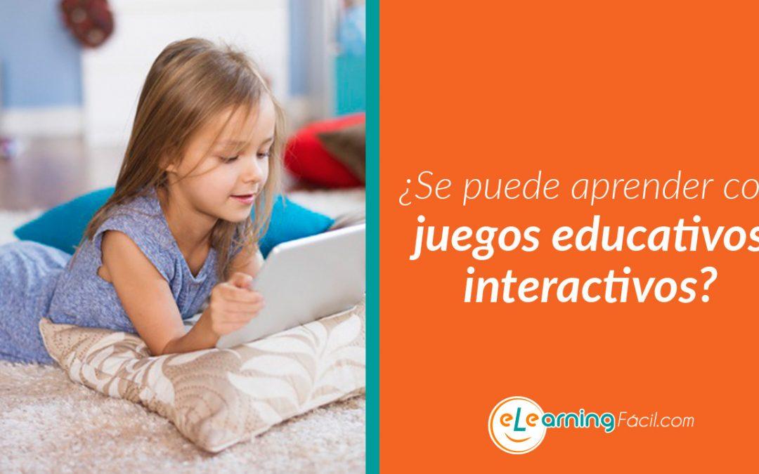 ¿Se puede aprender con juegos educativos interactivos?