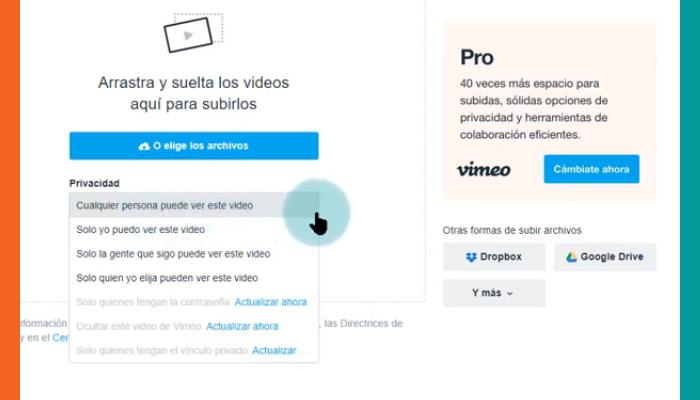 Configura la privacidad de tus videos