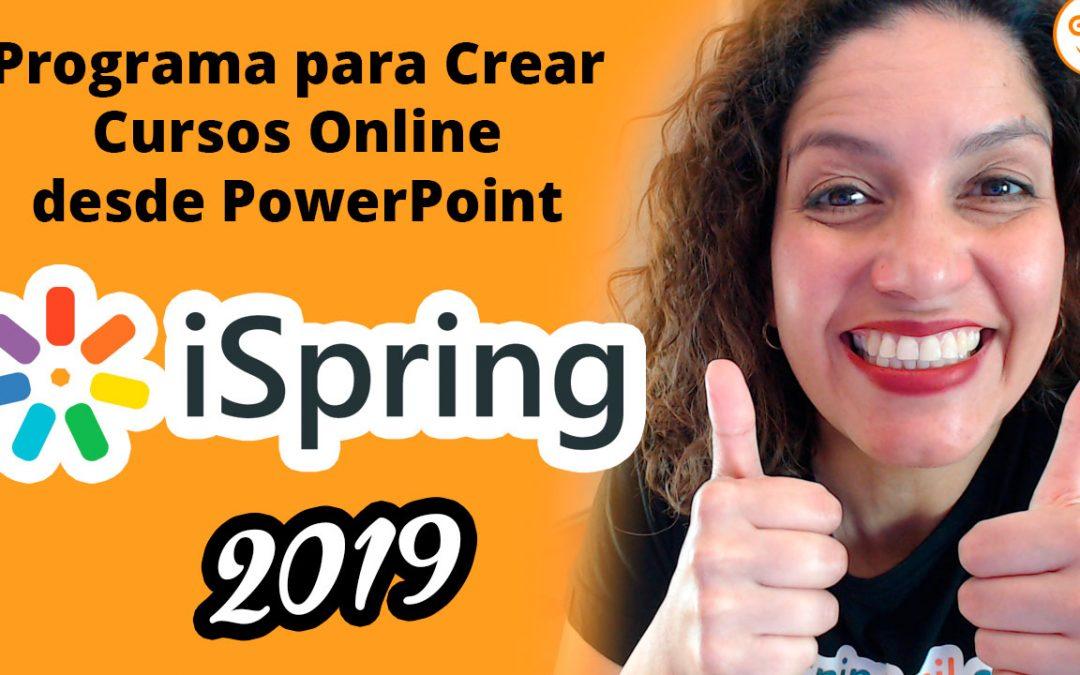 Programa para crear cursos online desde PowerPoint iSpring 2019